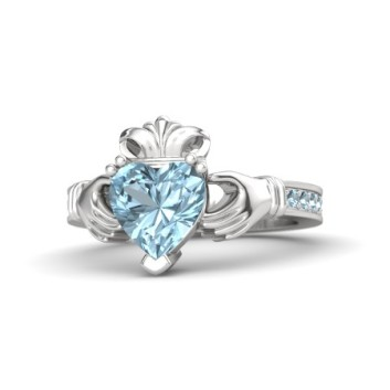 aquamarine clauddaugh ring