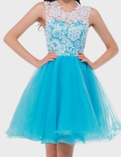 light blue lace dress