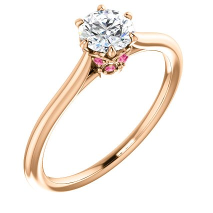 rose accent ring 122995 rose tourmaline