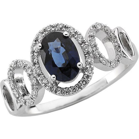 oval diamond sapph ring