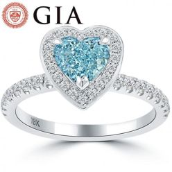 GIA blue heart ring